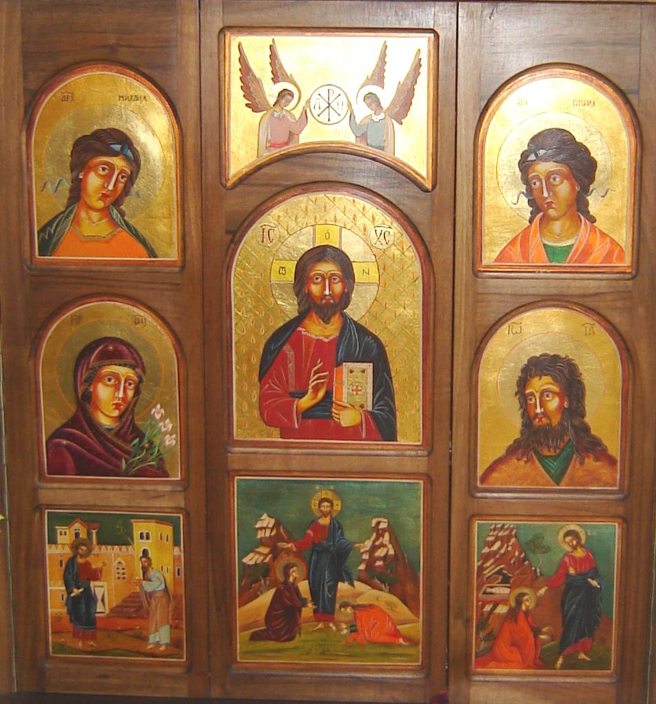 Szentségtartó szekrény ikonosztázion