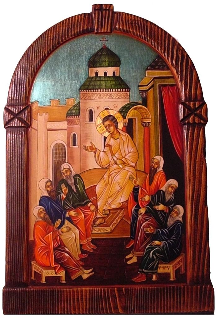 Jézus tanít a templomban